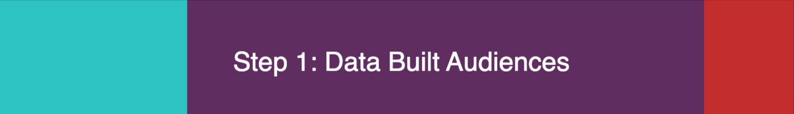 Step 1 - Data Built Audiences